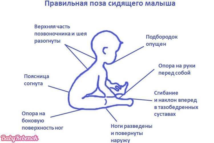 Во сколько месяцев начинают сидеть девочки самостоятельно: в каком возрасте сидит на попе и когда можно присаживать