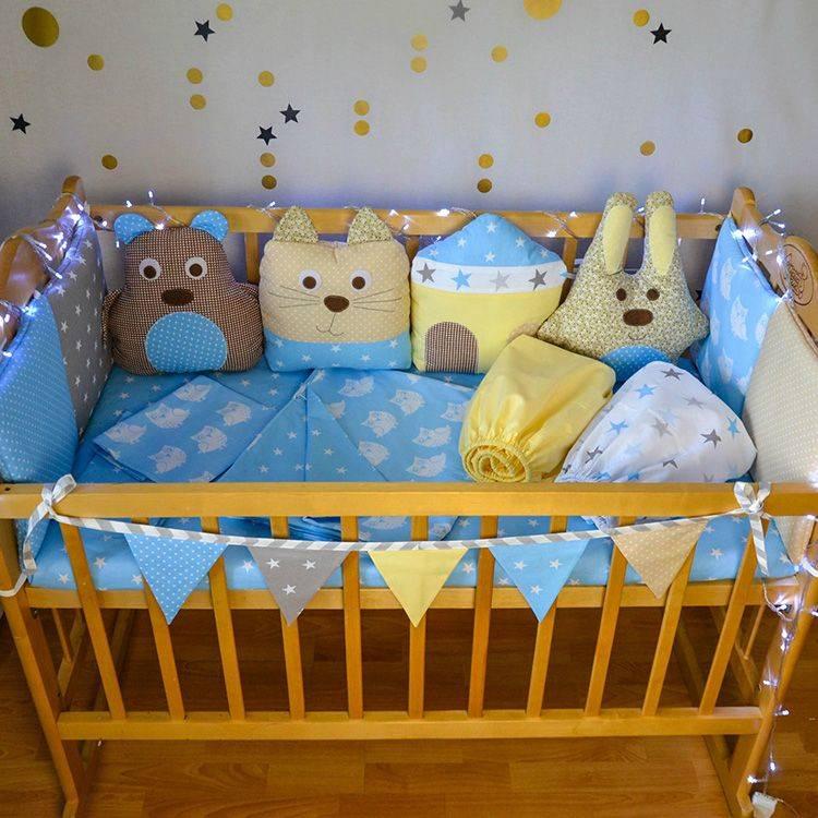 Выкройка и пошив бортиков для кроватки новорожденных