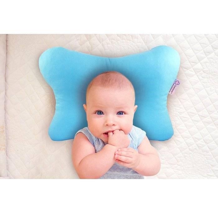 Ортопедическая подушка для новорожденных при кривошее - для грудничка валик