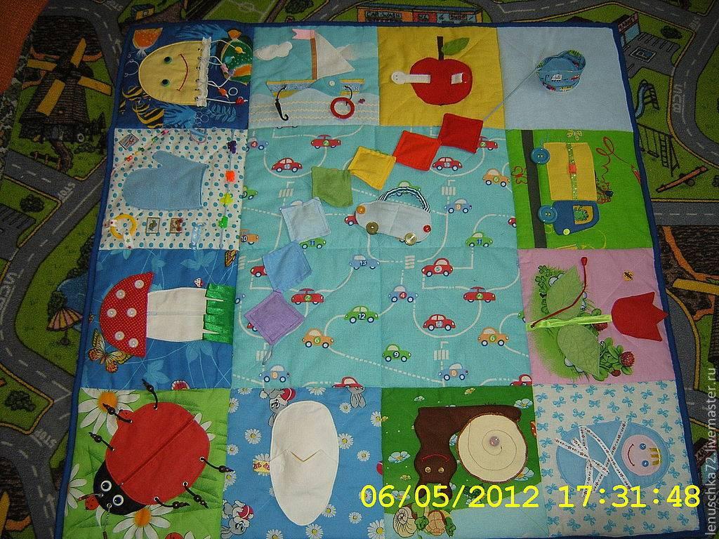 Как сделать развивающий коврик для самых маленьких своими руками
