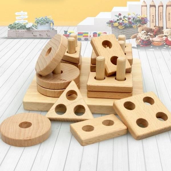 Деревянные игрушки для детей - купить в интернет-магазине ученый кот