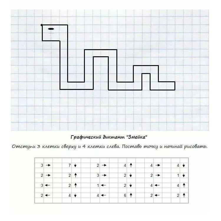 Графический диктант 3 класс - математика для детей мама7я