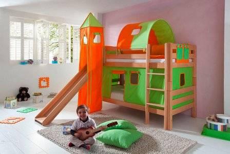 Детская кровать с горкой — виды моделей и правила выбора