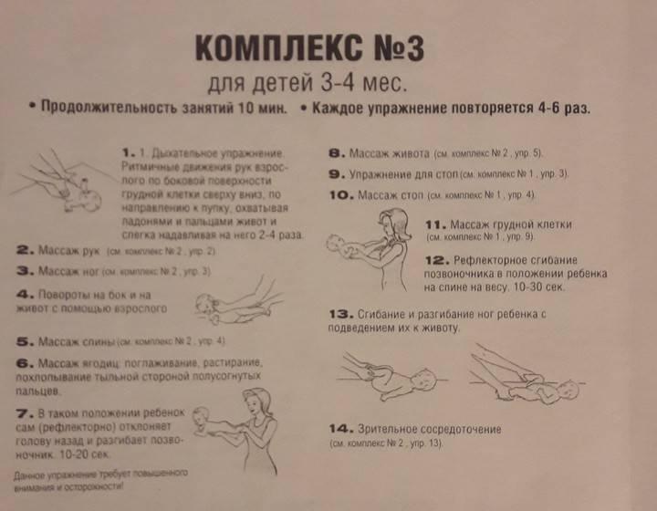 Гимнастика для детей 6 месяцев