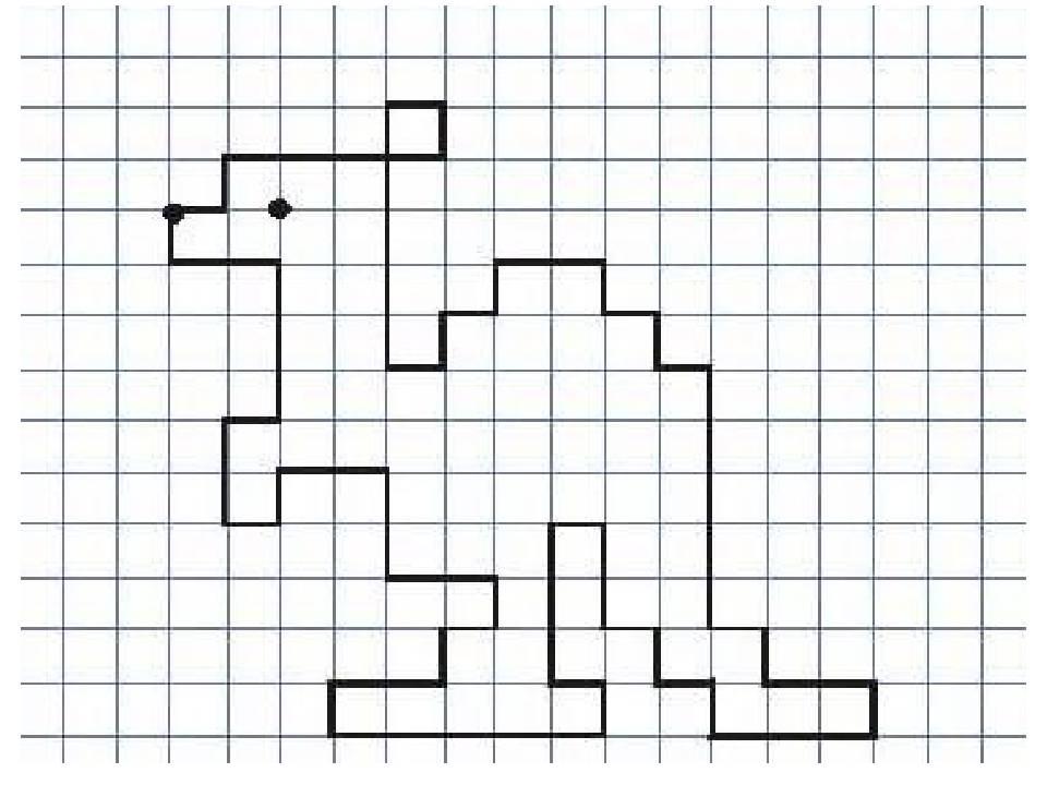 Графический диктант по клеточкам для детей в 1 классе