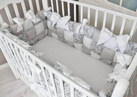 Бортики в кроватку подушки: как сделать самому, виды, выбор наполнителя и ткани