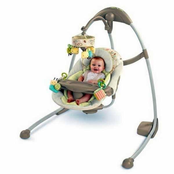 Детские электронные качели для новорожденных