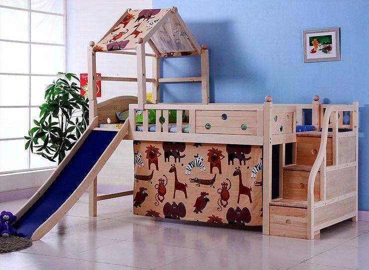 Идеи по выбору вида и дизайна детских кроватей с горкой интерьер и дизайн
