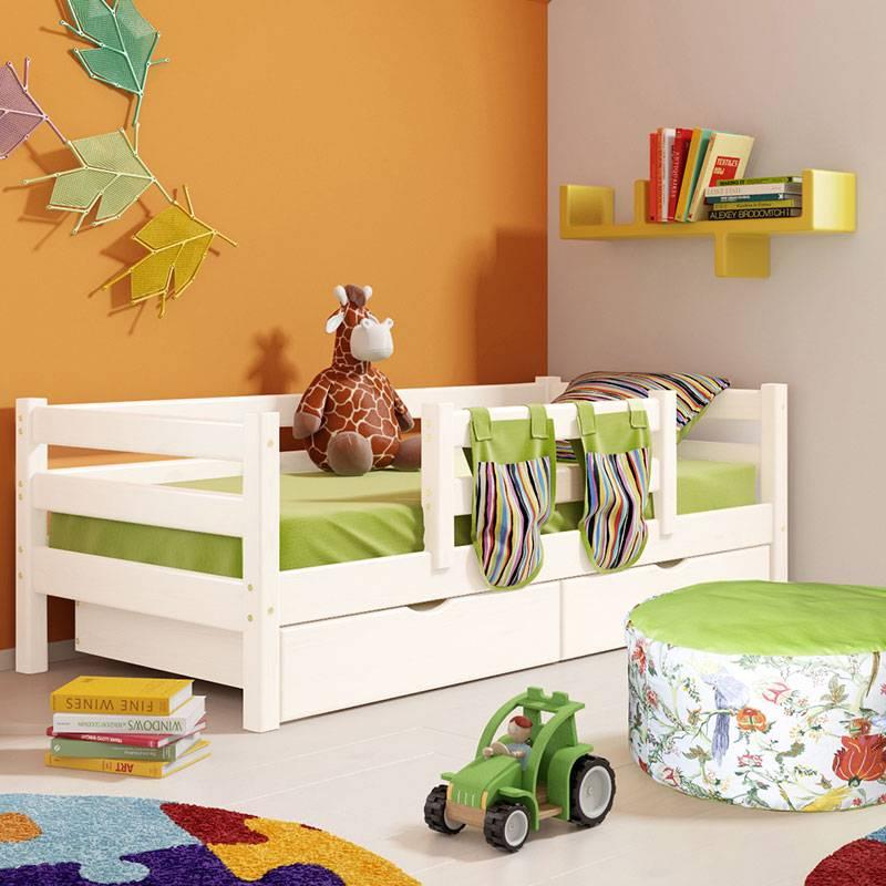 Детская мягкая кровать (40 фото): кроватки с изголовьем, со спинкой и обивкой