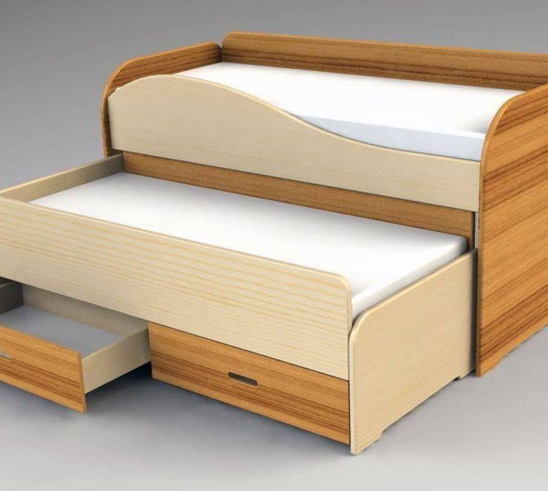 Выдвижные кровати для двоих детей, особенности конструкции, габариты и правила выбора материала изделия