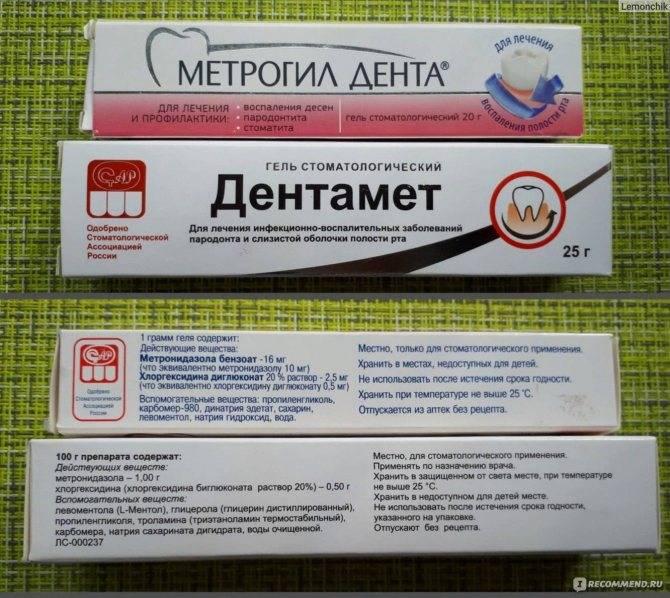 Метрогил дента гель: инструкция по применению