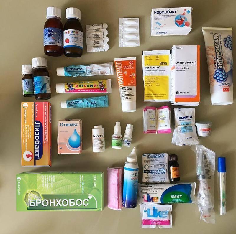 Состав домашней аптечки и аптечка на море с ребенком