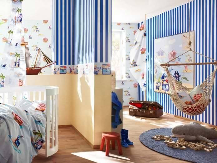 Подбираем шторы в морском стиле - фото дизайна морских штор в интерьере