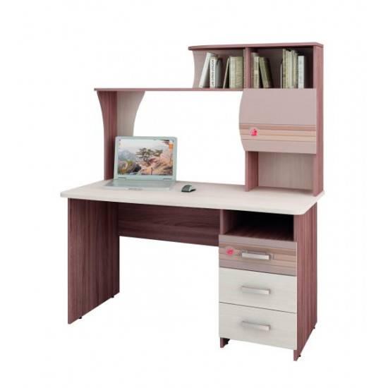Письменный стол для школьников с надстройкой