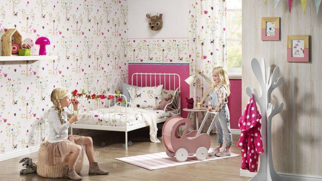 Rasch детские обои (34 ): модели для раскрашивания в интерьере комнат девочек из коллекции bambino, отзывы о фирме