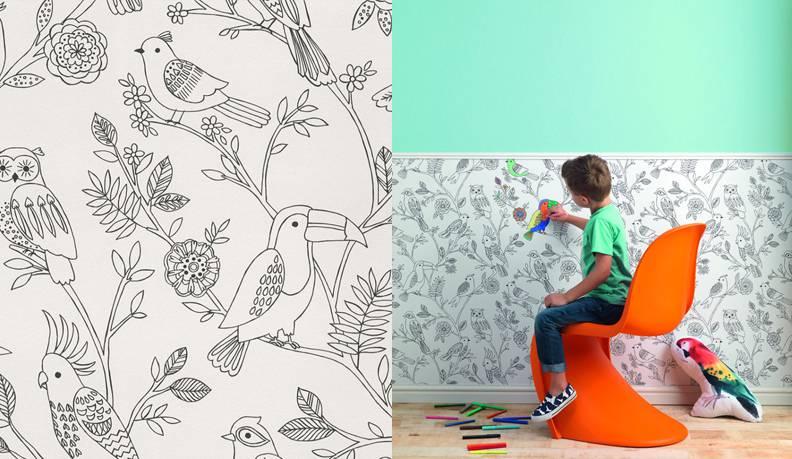 3d модели: стены, обои - детские обои rasch коллекция bambino