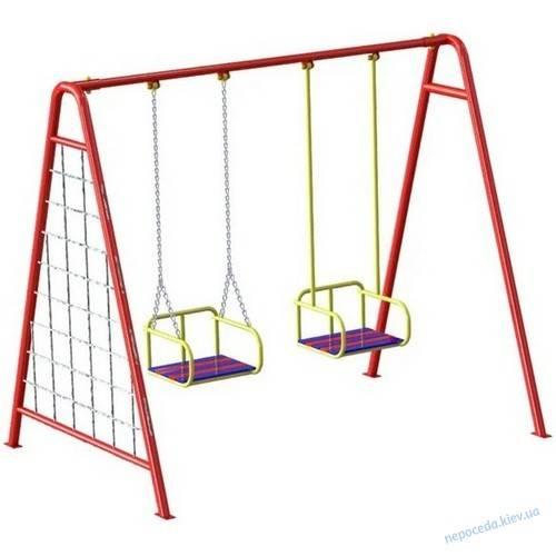 Детские качели двойные для дачи (26 фото) — выбираем уличные модели для двойни
