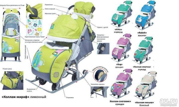 9 лучших санок-колясок для детей по отзывам покупателей - рейтинг 2021