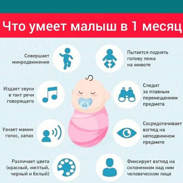 Что должен уметь ребенок в 1 месяц: ключевые навыки