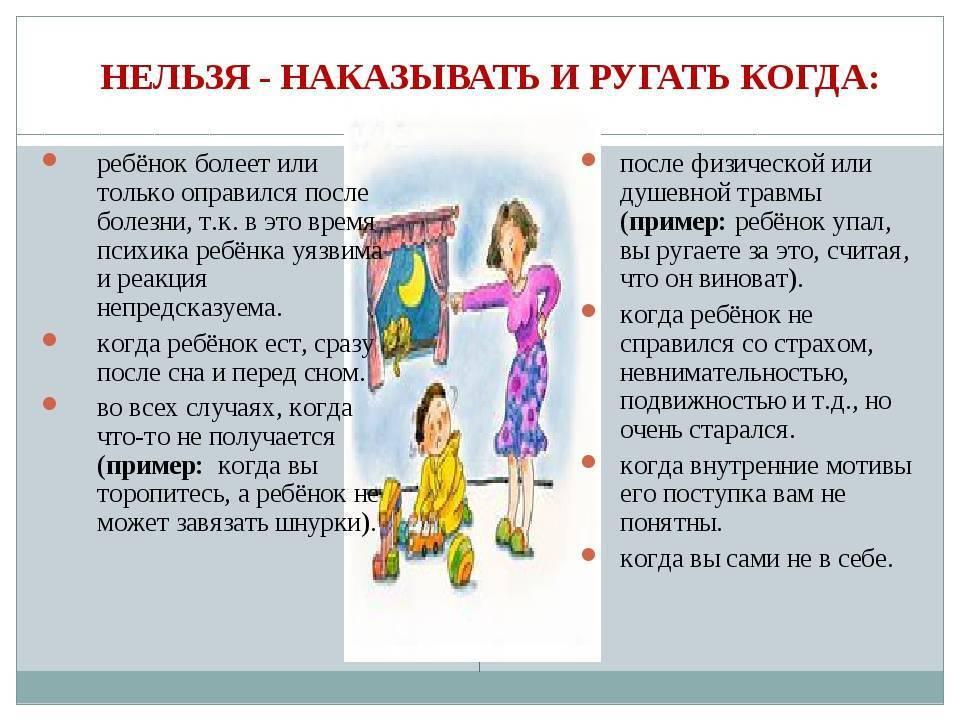 Особенности наказания детей