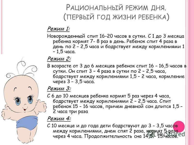 Примерный режим дня ребенка в 11 месяцев таблица по часам на грудном, искусственном вскармливании  | семья и мама