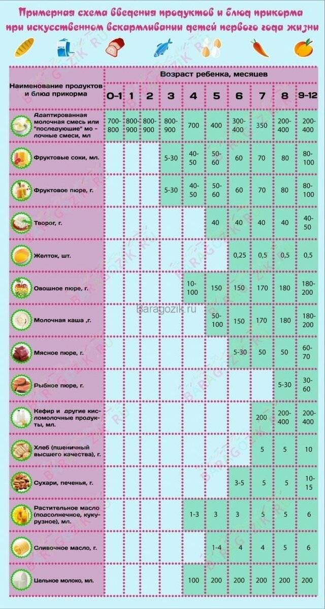 Особенности кормления ребенка в 9 месяцев при грудном и искусственном вскармливании: таблица примерного меню на неделю | qulady