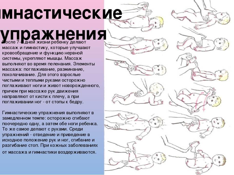 Гимнастика для грудничков. закаливание, плавание, физкультура, массаж до года
