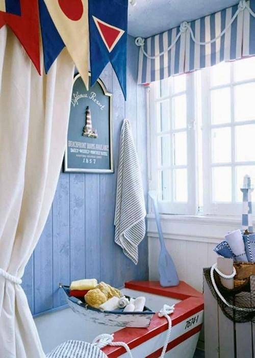 Шторы в детскую в морском стиле (54 фото): варианты занавесок для мальчика в комнату