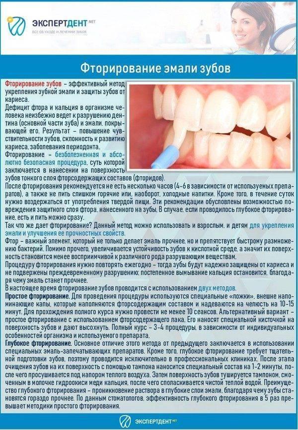 Фторирование зубов у детей: фото до и после, отзывы