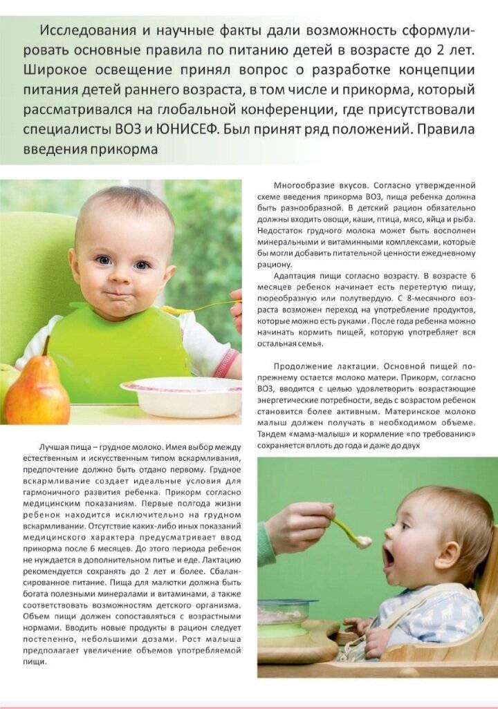 Ребенок грудного возраста — чем кормить?
