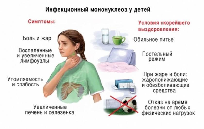 Инфекционный мононуклеоз у детей и взрослых: симптомы, лечение – напоправку