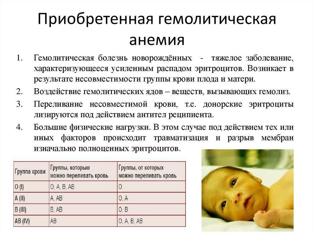 Причины гемолитической болезни у новорожденных, методы лечения и последствия