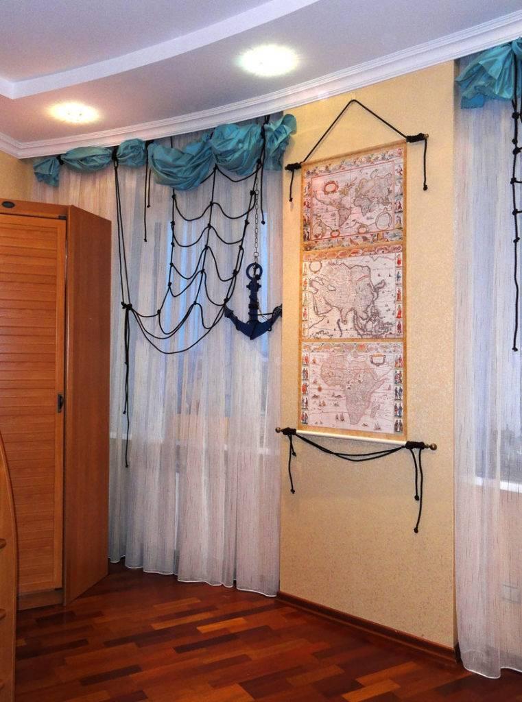 Шторы для детской комнаты в морском стиле