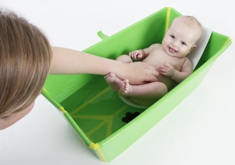 Ванночка stokke: складная детская ванна flexi bath для купания новорожденных, отзывы