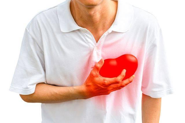 Симптомы болезни - боли в области сердца