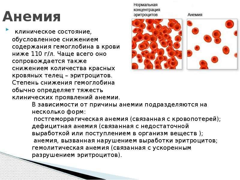 У ребенка понижены эритроциты в крови