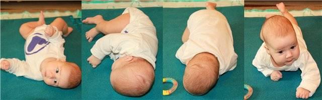 Во сколько месяцев малыш начинает переворачиваться   главный перинатальный - всё про беременность и роды