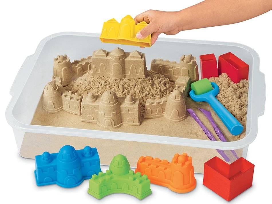 Все о кинетическом нерассыпающемся песке для лепки