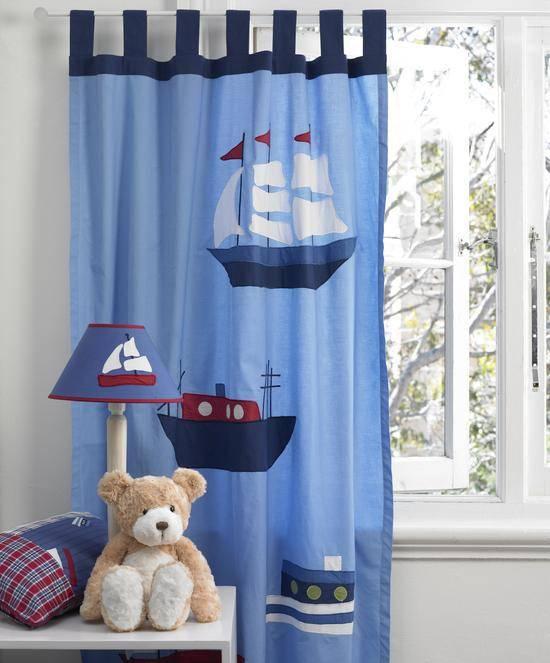 Дизайн штор в морском стиле в жилом интерьере — фото примеры