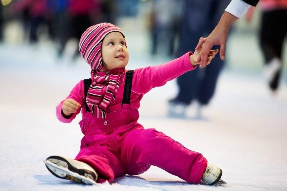 Основные упражнения, учащие кататься на коньках