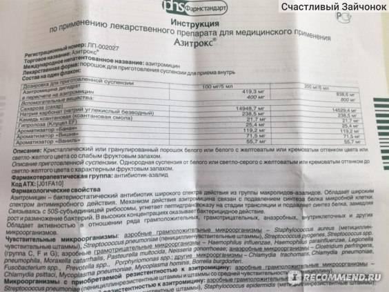 Сумамед форте суспензия — инструкция по применению | справочник лекарственных препаратов medum.ru