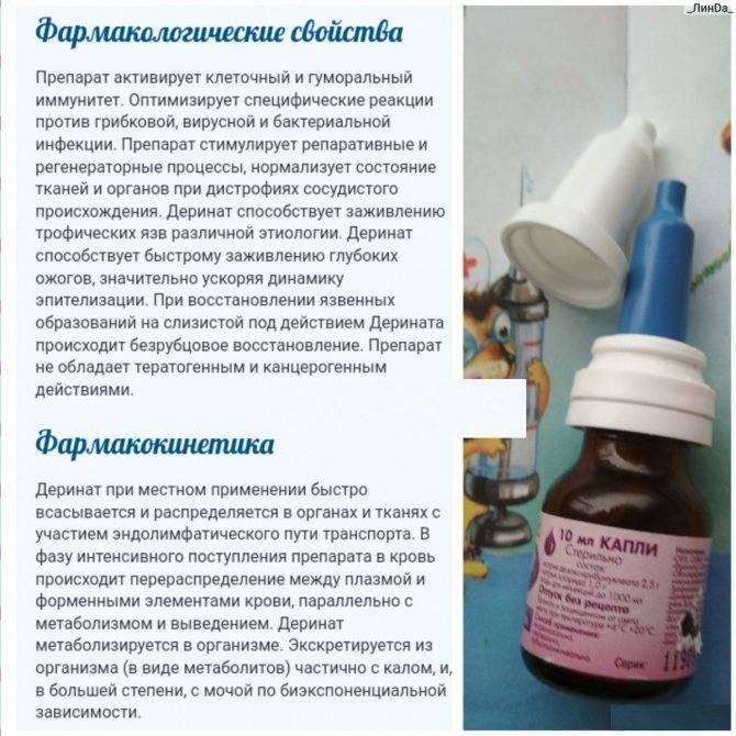 Лечение насморка небулайзером деринат