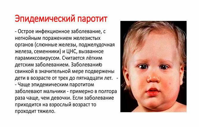 Паротит (свинка) у мальчиков: чем опасен, осложнения, последствия