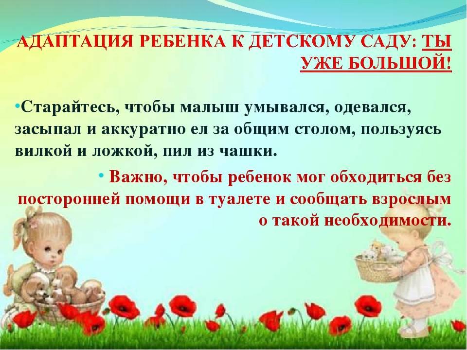 Адаптация и подготовка ребенка к детскому саду