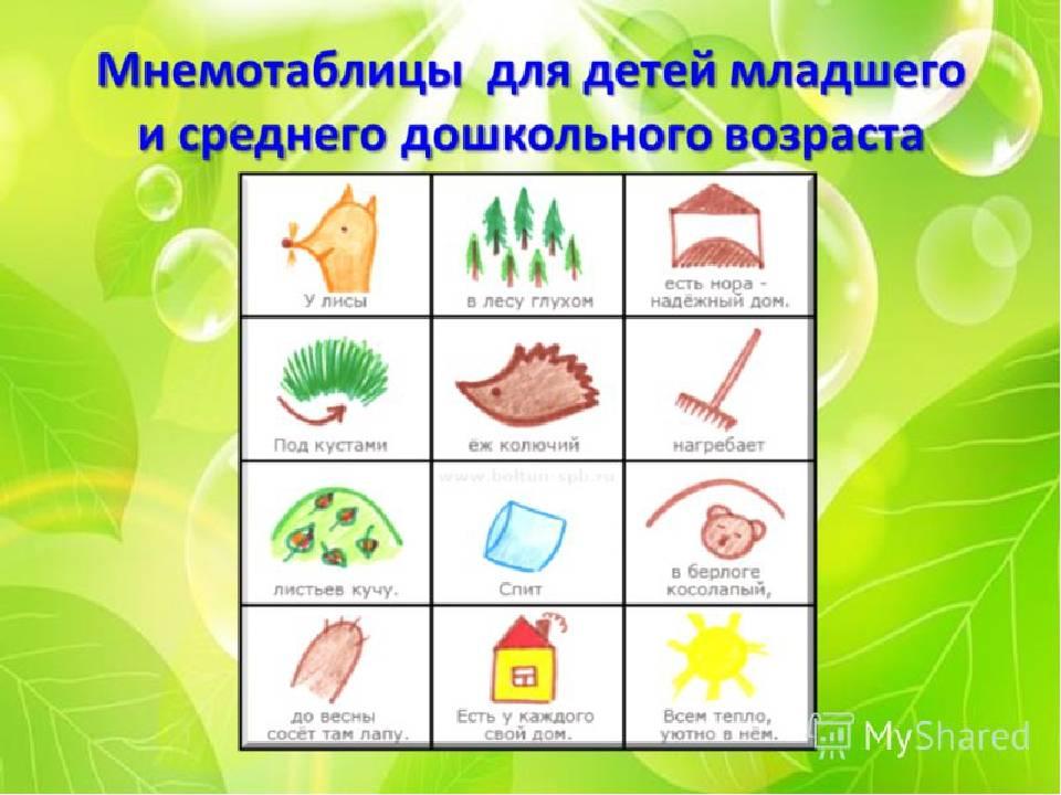 Использование мнемотехники в работе с детьми. воспитателям детских садов, школьным учителям и педагогам - маам.ру