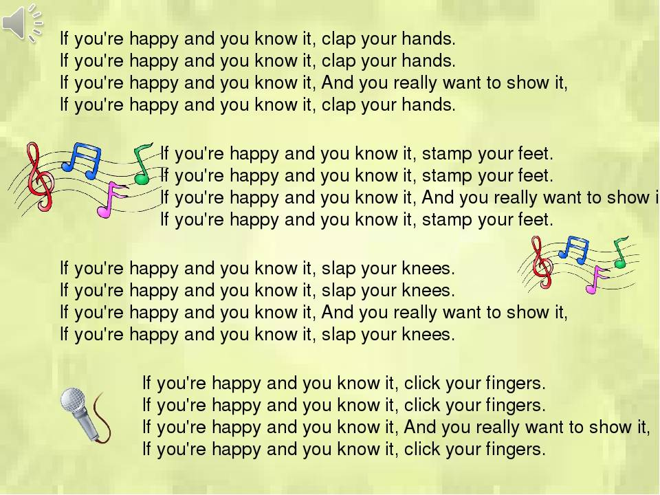 English for kids - if you are happy and you know it №9796368 - прослушать музыку бесплатно, быстрый поиск музыки, онлайн радио, cкачать mp3 бесплатно, онлайн mp3 - dydka.com