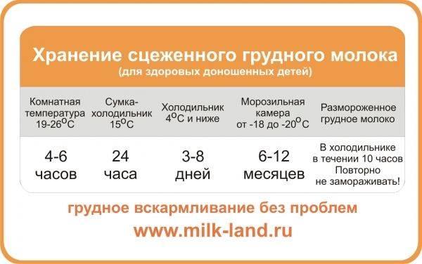 Сколько времени и в чем можно хранить грудное молоко в холодильнике и на прогулке