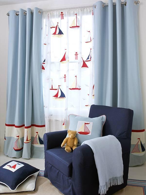 Шторы в детскую в морском стиле - 50 фото новинок и идей красивых штор в детской