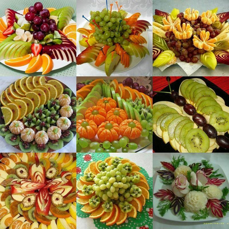 Как сделать нарезку из фруктов на праздник