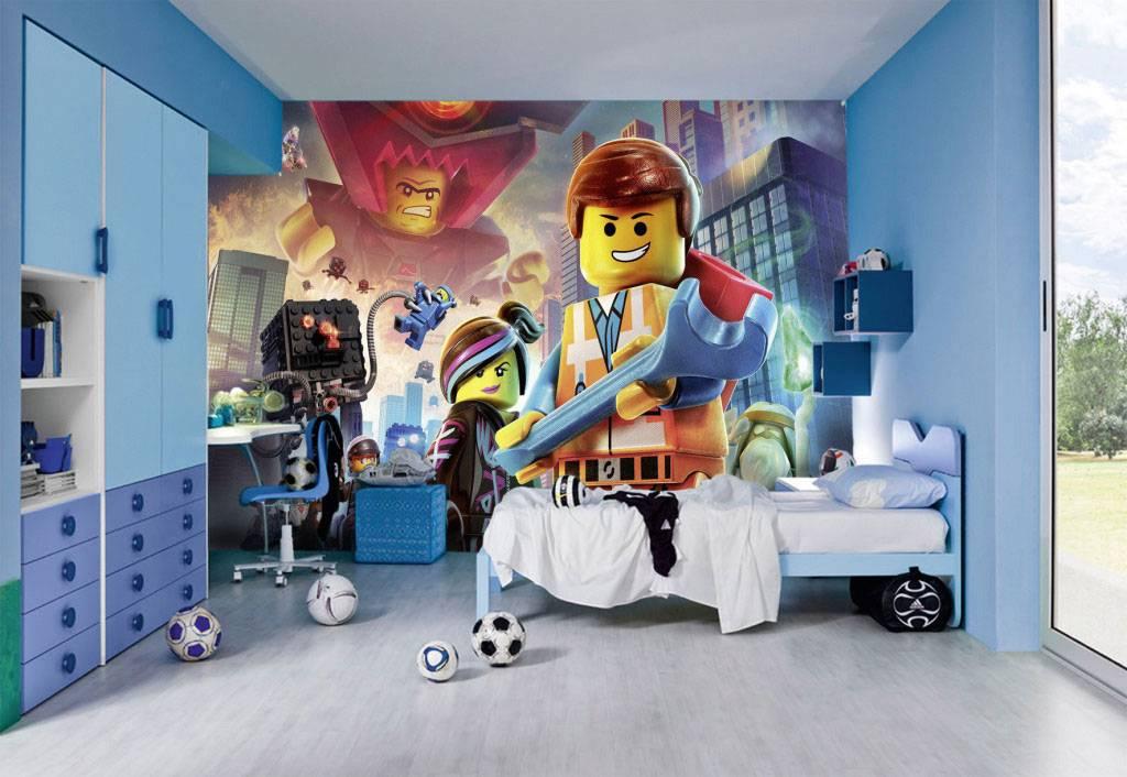 Детские фотообои для мальчиков (52 фото): «лего» для стен в комнату
